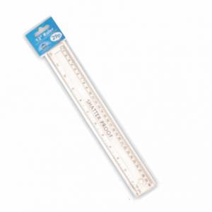 Ruler 30cm/12in Clear Shatterproof 5357954