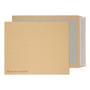 25 x Purely Manilla Board Back Envelope 394 x 318mm P&S 15935/25PR