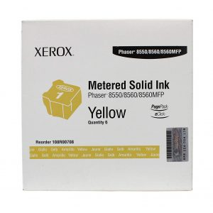 Xerox Solid Ink Stick 8550/8560/8560MFP for Pagepack Yellow Pack 6