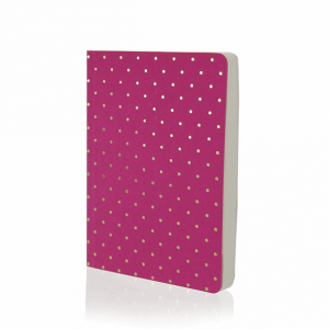 Shimmer A6 Notebook Pink With Gold Spots