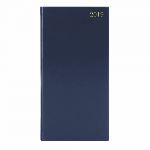 Portrait Blue Slim Diary Week to View 2019