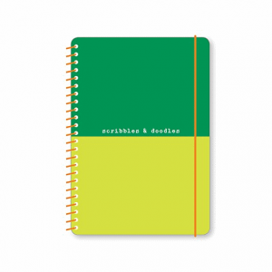 GO STATIONERY BRGHT IDEAS DUO A5 NTEBK SCRIBBLS DOODLS