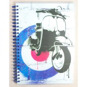 GO STATIONERY ART ICONS A5 NOTEBOOK SCOOTER