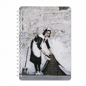 Banksy A5 Notebook Camden Maid