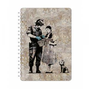 Go Stationery Banksy A5 Dorothy Notebook