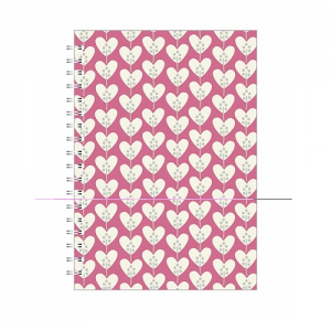 Go Stationery Hearts A5 Notebook – Pink