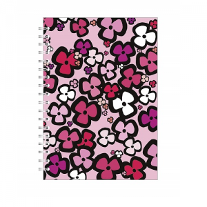 Go Stationery Bright Floral A5 Notebook – Pink