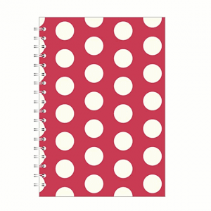 Big Polka A5 Notebook Red