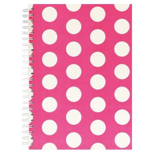 BIG POLKA A5 NOTEBOOK PINK