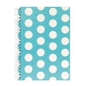 GO STATIONERY POLKA A5 NOTEBOOK TEAL