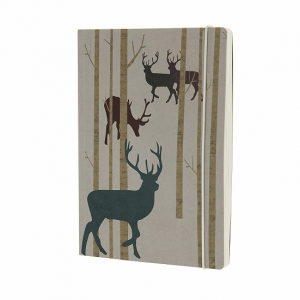 GO STATIONERY WOODLAND KRAFT STAG A5 NOTEBOOK