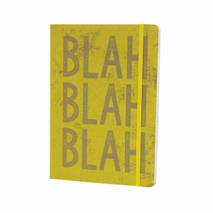 GO STATIONERY KRAFT TYPO YELLOW A5 NOTEBOOK
