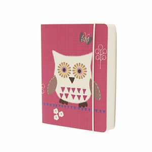 GO STATIONERY OWLS PINK A6 NOTEBOOK