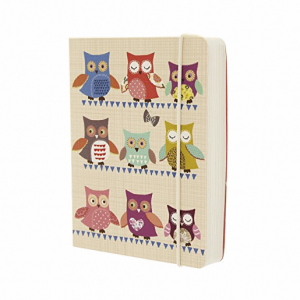 Go Stationery Owls A6 Notebook – Cream