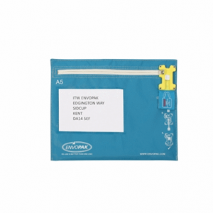 Envopak A5 Cash Bag Blue