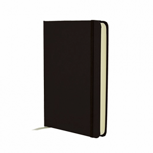 GO STATIONERY COLOUR BLOCK MEDIUM NOTEBK BLACK N CREAM