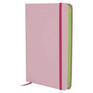 GO STATIONERY COLOUR BLOCK MEDIUM NOTEBOOK CANDY PINK