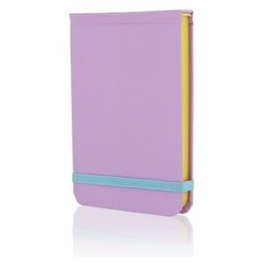 GO STATIONERY COLOUR BLOCK POCKET NOTEBK CANDY PURPLE