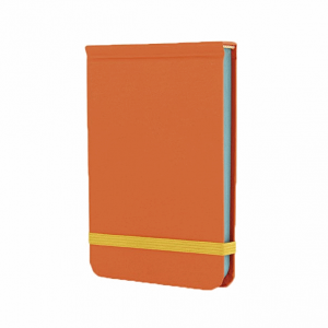 GO STATIONERY COLOUR BLOCK POCKET NOTEBOOK POP ORANGE