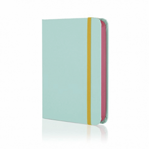 GO STATIONERY COLOUR BLOCK SMALL NOTEBOOK CANDY BLUE