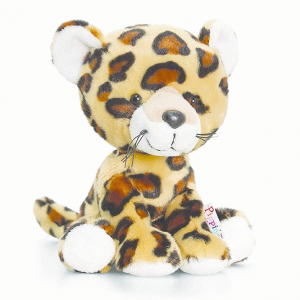 Keel Toys Pippins 14cm Spots Leopard Beanie Cuddly Soft Toy