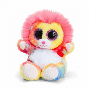 Keel Toys Animotsu 15cm Rainbow Lion Beanie Cuddly Soft Toy Plush