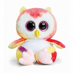 Keel Toys Animotsu 15cm Rainbow Owl Beanie Cuddly Soft Toy Plush