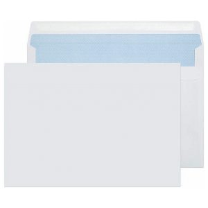 C5 White Self Seal Wallet Pack 500 Envelopes No Window