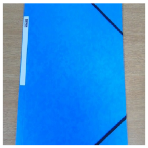 Eastlight 3 Flap Elasticated Pressboard File Foolscap 450gsm Blue Pack of 10