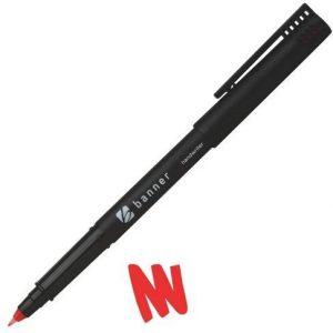 Banner Handwriter Pen 0.6mm Red Pack of 10