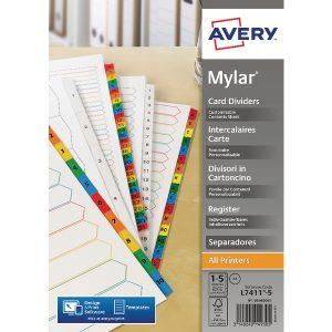 AVERY BR WHITE MYLAR 1-5 5460061