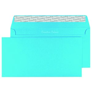 DL Envelope P Seal Cocktail Blue Pk250