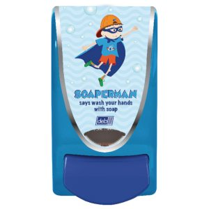 Deb School Soap Dispenser Soaperman 1 Litre SMAN1LDS
