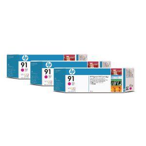 HP 91 Magenta Inkjet Cartridge (Pack of 3) C9484A
