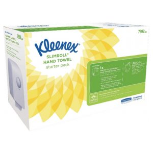 Kleenex Slimroll Starter Pack (Includes dispenser and 2 rolls of hand towels) 7992