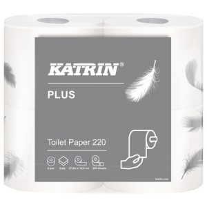 Katrin Plus Toilet Roll 2-Ply 220 Sheets (Pack of 56) 35083