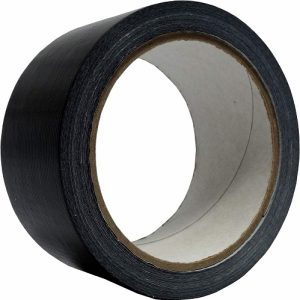 Capitol Duct Tape Black  48 mm x 25 Metres C3792 Pack of 6
