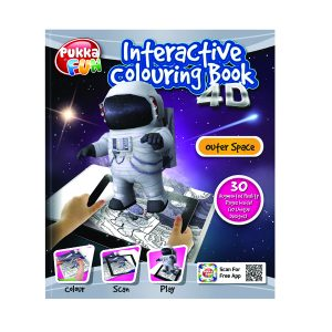 4D INTACTIVE COLOURING/ACT BK OUTR SPACE