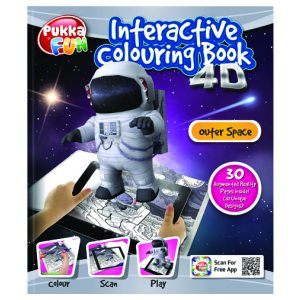 Pukka Fun Interactive Colouring Book 4D Outer Space 8424-FUN