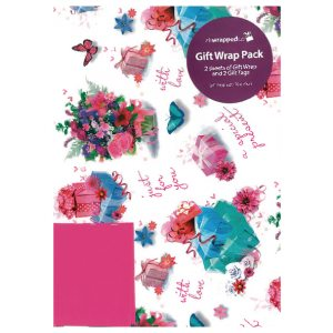 Packaged Wrap Flowers Pk12