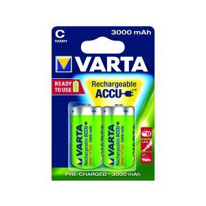 Varta Nimh Size C Battery Pk2