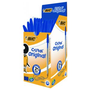 Bic Cristal Ball Pen Medium Blue Pk50