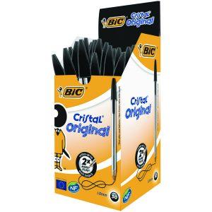 Bic Cristal Ballpoint Pen Med Black Pk50