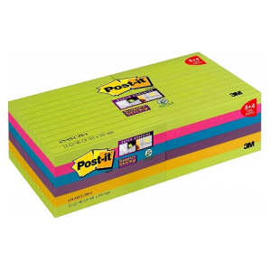 Post-it Super Sticky XL Notes 101 x 101mm 12 pads