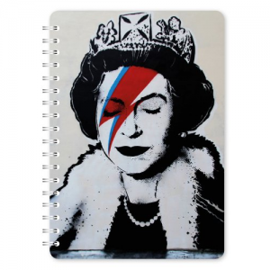 GO STATIONERY BANKSY A5 NOTEBOOK QUEEN