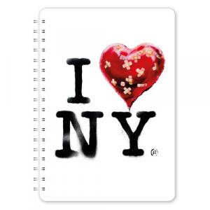 GO STATIONERY BANKSY A5 NOTEBOOK I LOVE NY