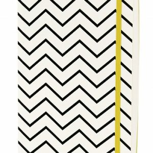 GO STATIONERY MONOCHROME CHEVRON A5 NOTEBOOK