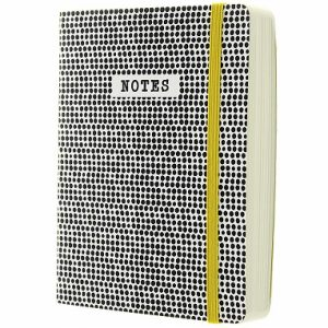 GO STATIONERY MONOCHROME DOTS A6 NOTEBOOK