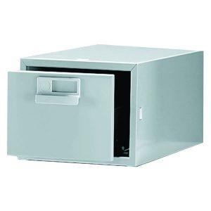 Bisley Card Index Cabinet 203x127mm Single Grey FCB15