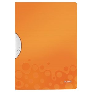 Leitz WOW ColorClip Poly File A4 Orange Metallic (Pack of 10) 41850044